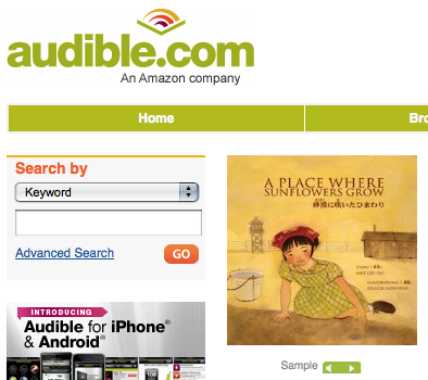 """audible.com"", ""A Place Where Sunflowers Grow"""
