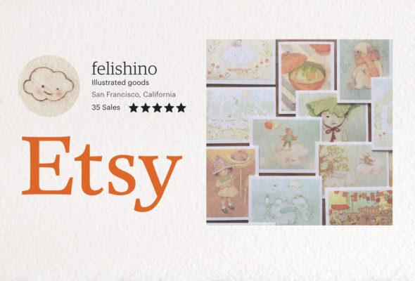 Get your felishino illustrated goods on Etsy!